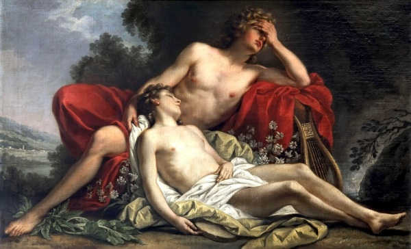 The Death of Hyacinth (1769) by Nicolas-René Jollain (click to enlarge)