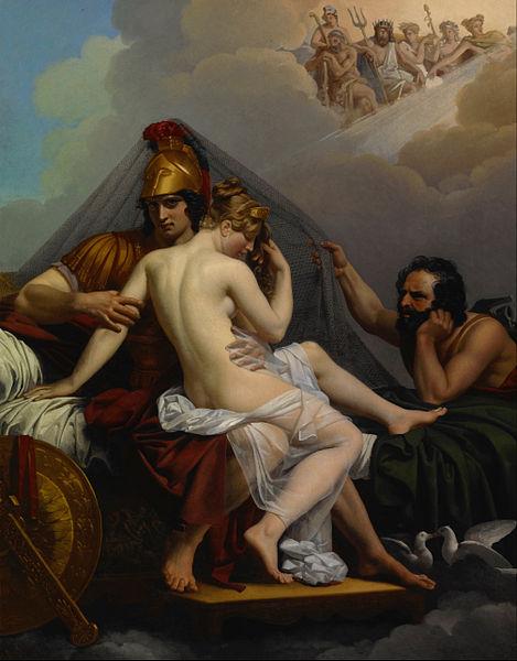 Mars and Venus of Cyprus Surprised by Vulcan (1827) by Alexandre Charles Guillemot