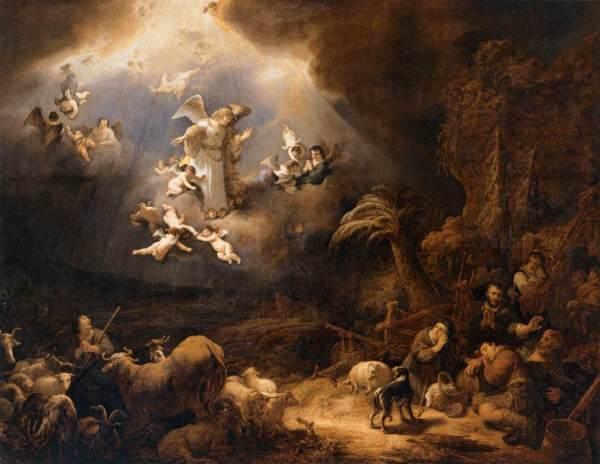 Les Anges annonçant aux bergers la naissance du Christ par Govert Flinck (1639)
