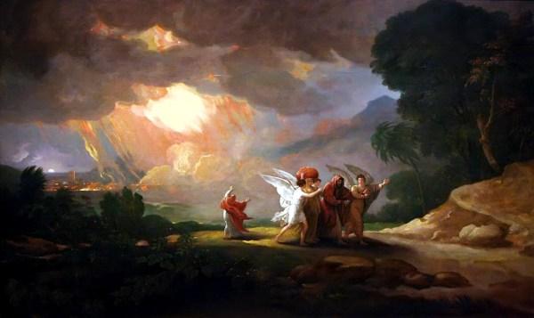 Lot_Fleeing_Sodom_BenjaminWest_1810